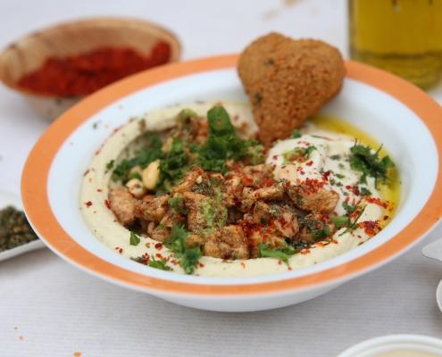 hummus bowl mit huhn