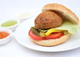 falafel burger momen food