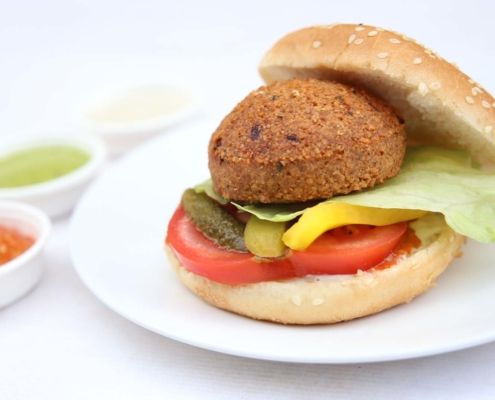falafel burger momen food